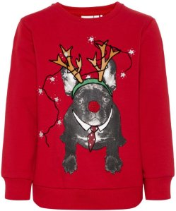 Name It Mini Christmas Print Sweatshirt