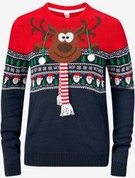 Ellos Rein Christmas Pullover (Blå)