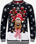 Ellos Rein Christmas Pullover (Svart)