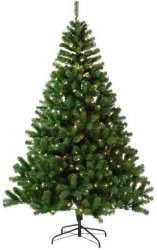 Luksus juletre Anja PVC med 320 LED lys 210cm