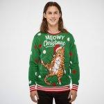SillySanta Meowy Christmas m/blinkelys (Herre)