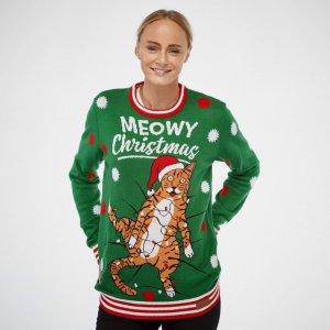 Jolly Meowy Christmas m/ blinkelys (Dame)