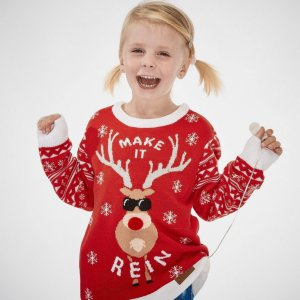 SillySanta Make It Rein Julegenser m/ledlys
