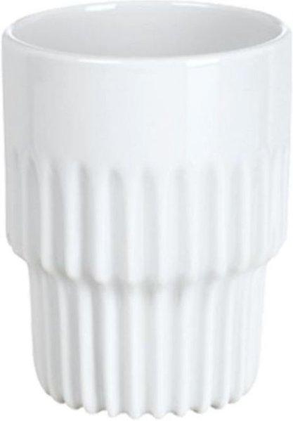 Porsgrunds Porselænsfabrik Sense kopp uten hank med riller