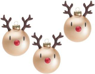 Hoptimist Mini Rudolph juletrekuler 3 stk