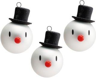 Hoptimist Mini Snowman juletrekuler 3 stk