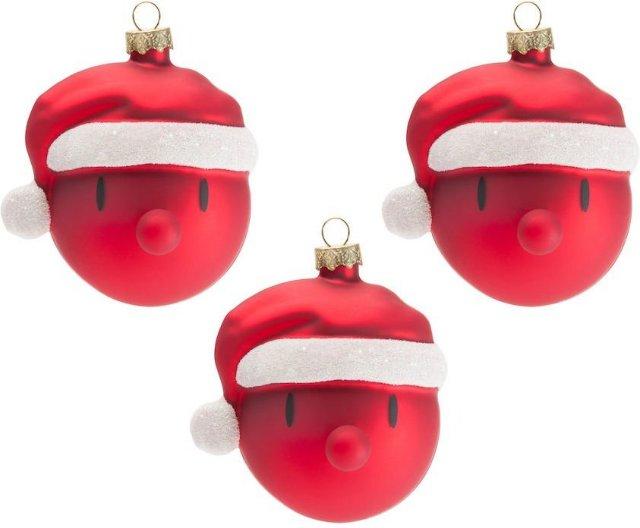 Hoptimist Mini Santa juletrekuler 3 stk