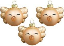 Hoptimist Mini Angel juletrekuler 3 stk