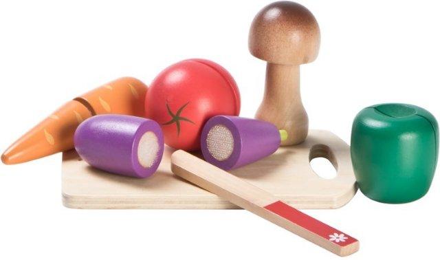 Wood Little Skjærebrett med Grønnsaker