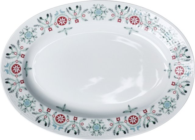Rörstrand Swedish Grace Winter oval tallerken 32cm
