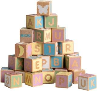 Micki Pastell Alfabet Byggeklosser (36 deler)
