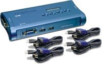 Trendnet 4-Port USB KVM Switch Kit TK-407K