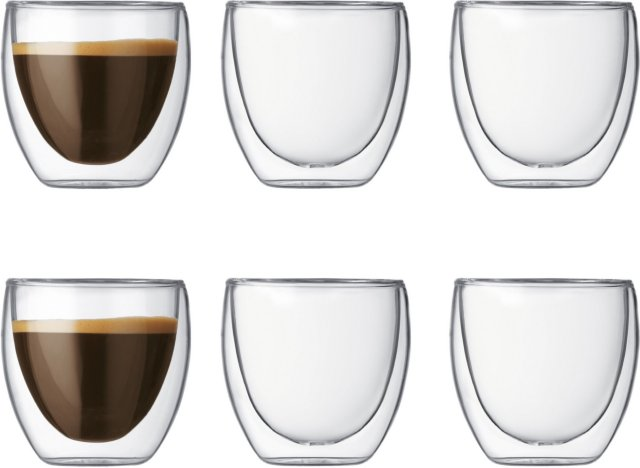 Bodum Pavina espressoglass 8 cl 6 stk