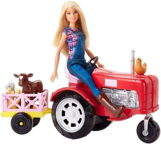 Barbie Farmer Doll and Tractor Set