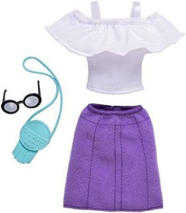 Barbie Complete Fashion Look - Ruffle Top and Purple Skirt