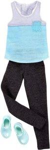 Barbie Ken Clothes Tank Top and Black Pants