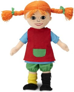 Pippi Langstrømpe Dukke, 30 cm