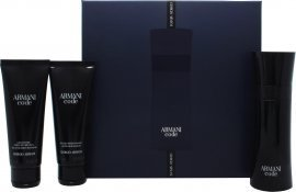 Giorgio Armani Code gavesett 75ml EdT + 75ml Aftershave Balm + 75ml Shower Gel