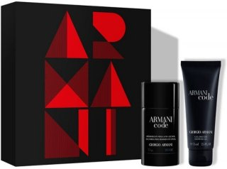Giorgio Armani Code gavesett Deo Stick 75g + Shower Gel 75ml