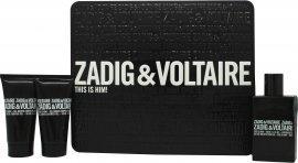 Zadig & Voltaire This Is Him gavesett 50ml EdT + 2x50ml dusjgele