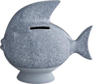 Kähler sparebøsse fisk lyseblå
