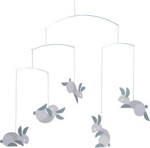 Flensted Mobiles Circular bunnies uro