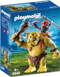 Playmobil Knights 9343 Giant Troll with Dwarf Fighter