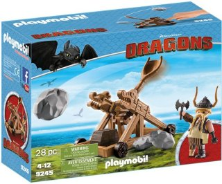 Playmobil Dragons 9245 Gobber with Catapult