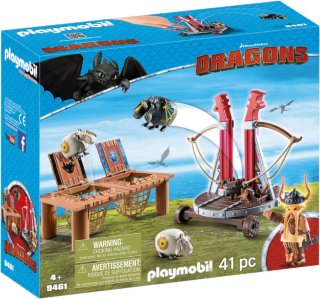 Playmobil Dragons 9461 Gobber with Sheep Sling