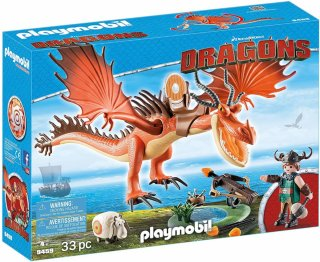 Playmobil Dragons 9459 Snotlout & Hookfang