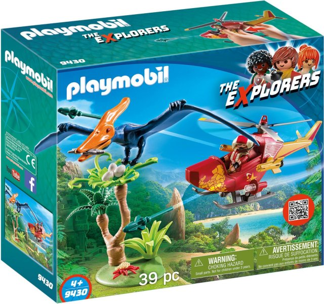 Playmobil The Explorers 9430 Helicopter with Pterodactyl
