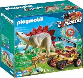 Playmobil The Explorers 9432 Explorer Vehicle with Stegosaurus