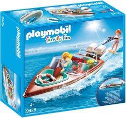 Playmobil Family Fun 9428 Motorbåt & Vannski