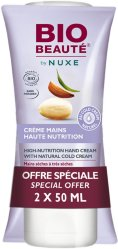 Nuxe Bio Beauté High-Nutrition Hand Cream 50ml 2 stk
