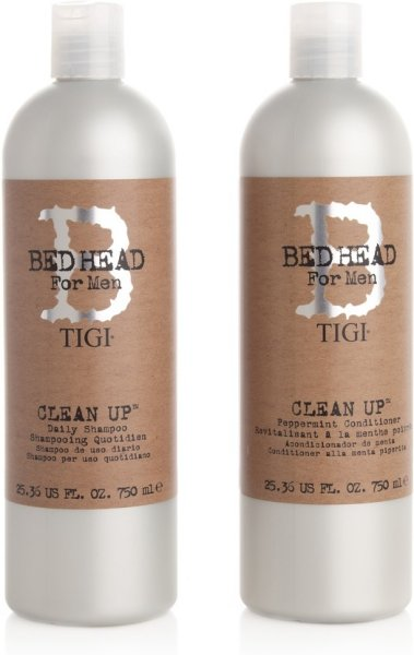 TIGI BedHead For Men Clean Up Peppermint Shampoo & Conditioner 750ml
