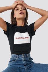Calvin Klein Jeans Institutional Box Logo Slim Fit Tee (Dame)