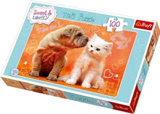 Trefl Puslespill 100 Biter Katt og Hund