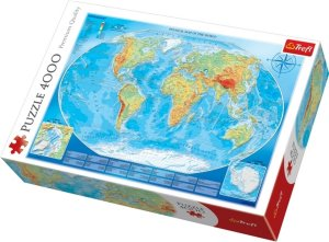 Trefl Puslespill 4000 Deler Map of The World