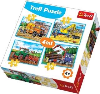 Trefl Puslespill 4-i-1 Large Construction Machines