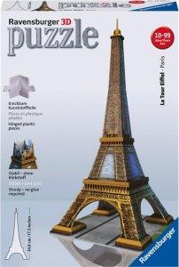 Puslespill bygning 3D Eiffeltårnet