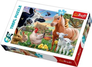 Trefl Puslespill 60 Deler Cheerful Farm