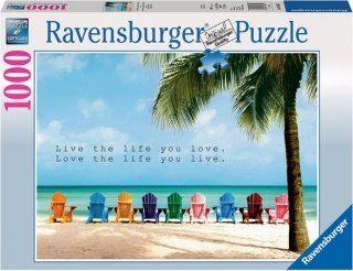 Ravensburger Puslespill Live The Life You Love 1000 biter