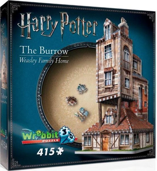 Wrebbit Harry Potter 3D Puslespill The Burrow Weasley Family Home 415 brikker