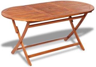 VidaXL Utendørs spisebord akasietre ovalt