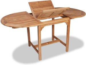 VidaXL Utendørs spisebord uttrekkbart teak