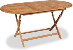VidaXL Utendørs spisebord teak 160x80x75cm