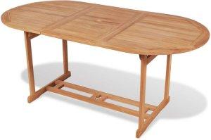 VidaXL Utendørs spisebord teak 180x90x75cm