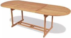 VidaXL Utendørs spisebord teak 240x90x75cm