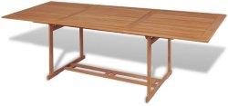 VidaXL Utendørs spisebord teak 240x90x75cm rektangulært