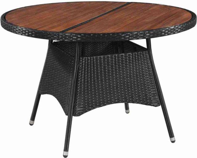 VidaXL Utendørs spisebord polyrotting og akasietre 115x74cm